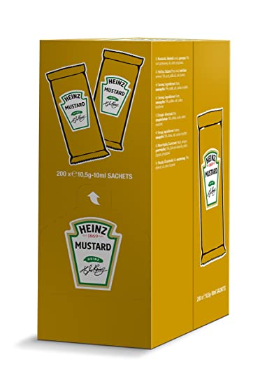 Heinz salsa mostaza monodosis 10 ml caja 200 unidades