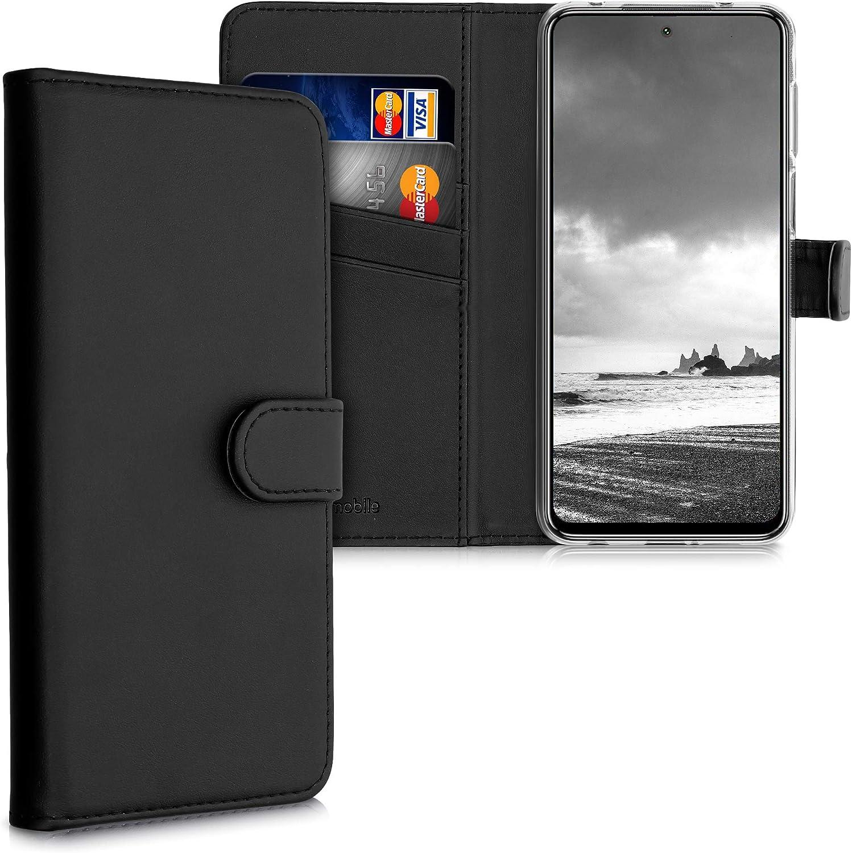 kwmobile Funda Compatible con Xiaomi Redmi Note 9S / 9 Pro / 9 Pro MAX - De Cuero sintético - Case con Tarjetero en Negro