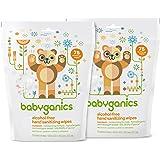 Babyganics Alcohol-Free, Hand Sanitizing Wipes, Mandarin, 75 Individual Packets, (Pack of 2, 150 Total Wipes)
