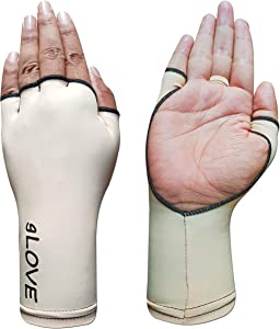 Glove Palmless Sports UPF 50+ 98% UV Block Sleeve for Tennis, Golf, Fishing and Any Outdoor Sports. Open Palm for Maximum gripping and Flexibility. Ultimate Sun Protection SPF for Hands. Lightweight.