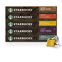 Starbucks by Nespresso, Favorites Variety Pack (50-count single serve capsules,...