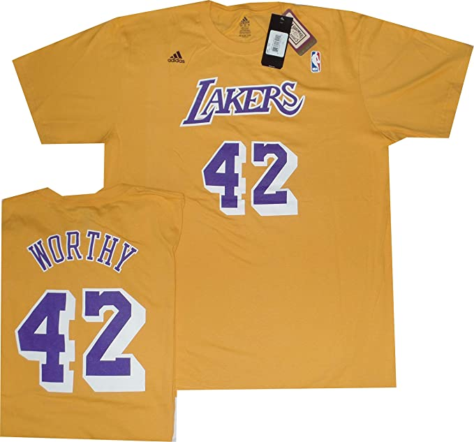 new york f6c00 f83ba Los Angeles Lakers James Worthy Vintage Throwback T Shirt