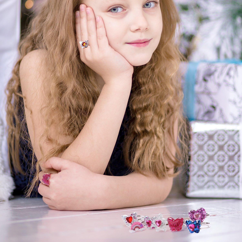 Kinder Ring/ /Verstellbar Kleine M/ädchen Schmuck Set /Kleinkind Rainbow Schmetterling Ring/
