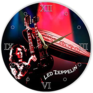 """Led Zeppelin Vinyl Clock 12"""", Wall Clock Painted Led Zeppelin, Original Gifts, The Best Gift for Music Lovers, Unique Wall Art Home Decor"""