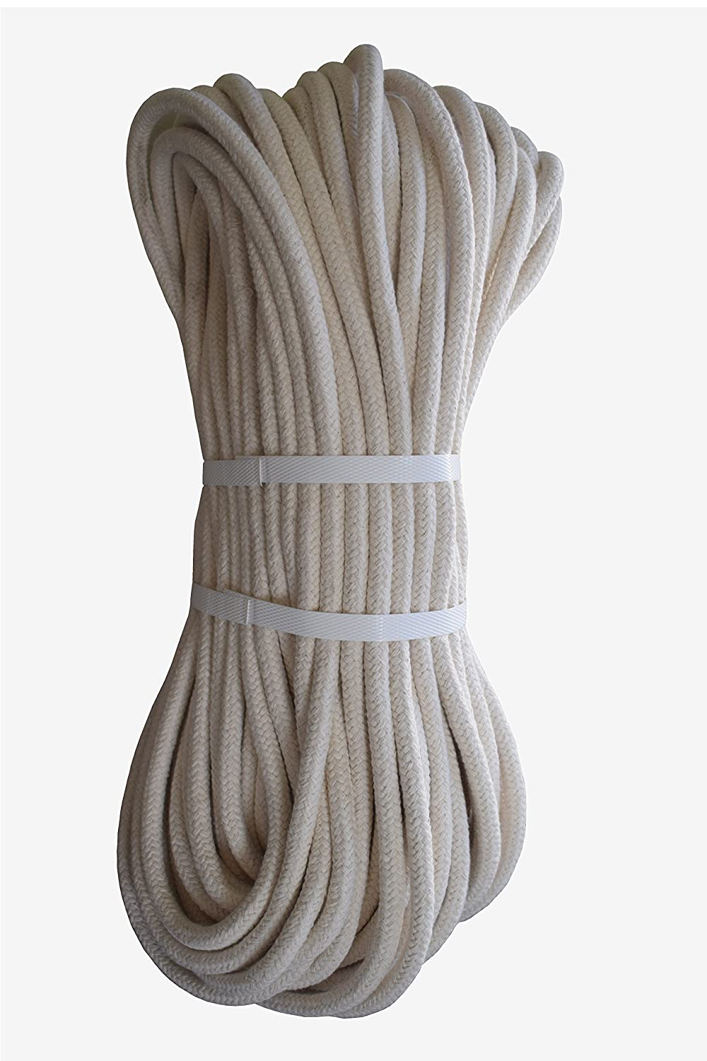 100% Natural 16 Strand Cotton Rope 8mm 50 Meters HOMEHOBBY