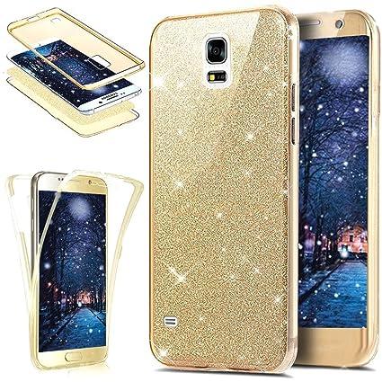 d38fa839752 Funda Compatible con Samsung Galaxy S5 360 Grados Integral Ambas Carcasa,Funda  360 Full Body