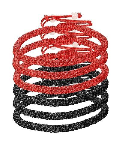 BE STEEL Schmuck 6Pcs Kabbalah Armbänder für Herren und Damen ...