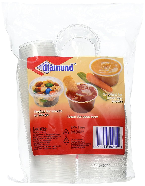 Jarden Home Brands 41426-80001 Storage Cups With Lids 2-oz. Mini 50-Ct.