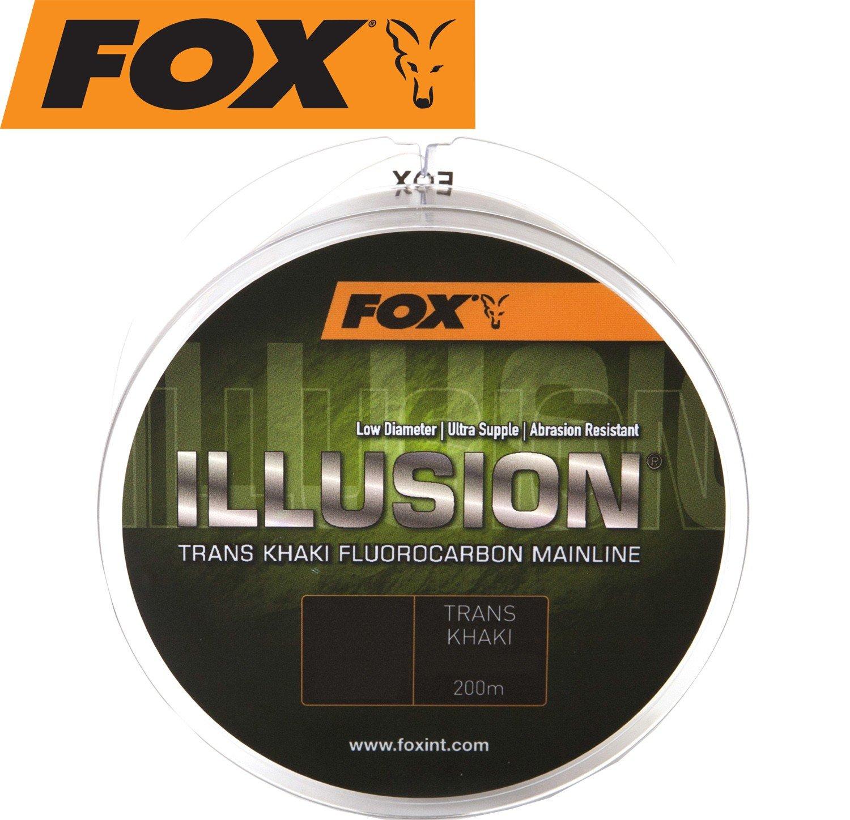 Schnur f/ür Weite W/ürfe Fox Edges Illusion Soft Mainline Trans Khaki 200m Karpfenschnur monofile Angelschnur Zum Karpfenangeln