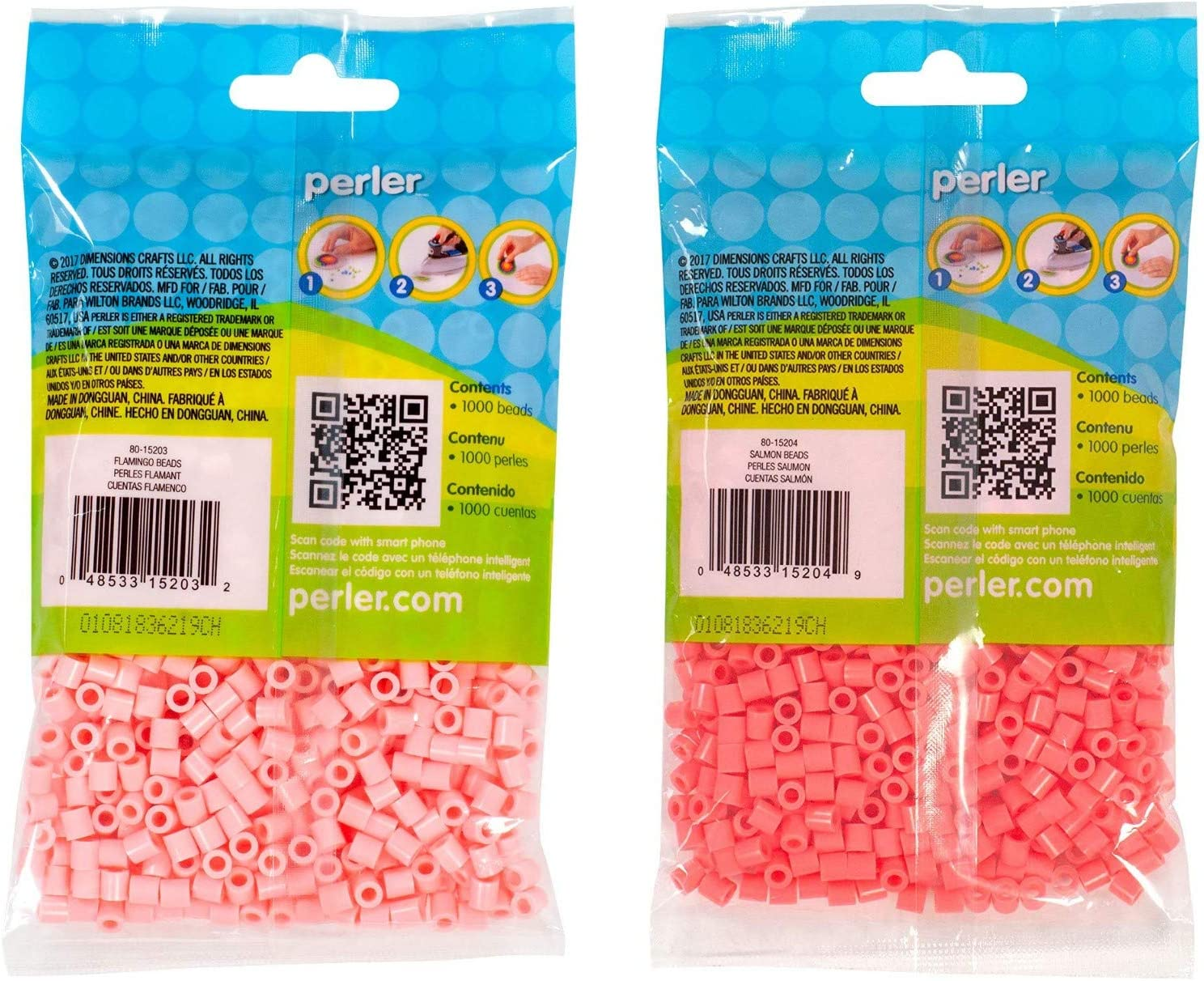 2 Pack Perler Bead Bag 1000 Bundle of Toasted Marshmallow and Fawn