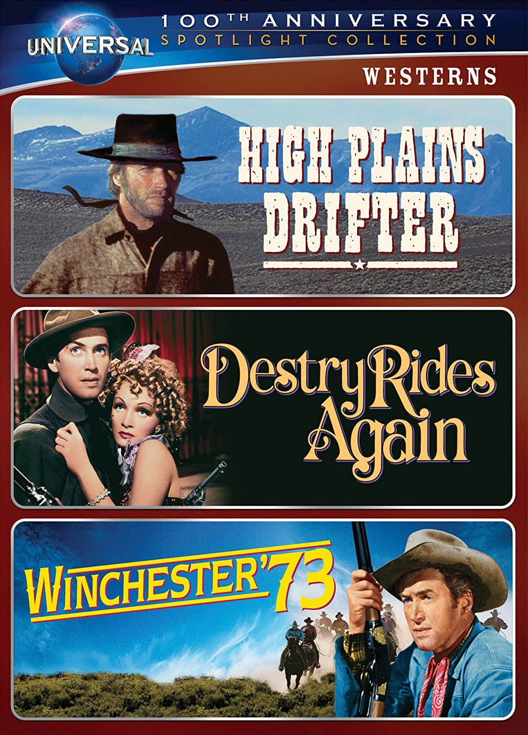 Amazon.com: Westerns Spotlight Collection [High Plains Drifter, Destry  Rides Again, Winchester '73] (Universal's 100th Anniversary): Clint  Eastwood, ...