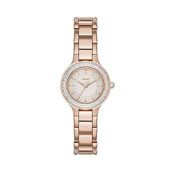 DKNY Reloj analogico para Mujer de Cuarzo con Correa en Acero Inoxidable NY2393: Amazon.es: Relojes