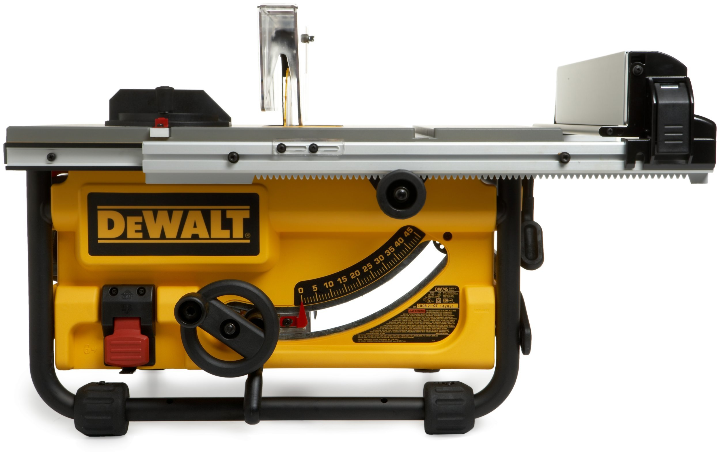 DEWALT DW7440RS Rolling Saw Stand with DW745 10-Inch Compact Job-Site Table Saw with 20-Inch Max Rip Capacity - 120V by DEWALT