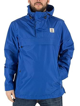 Franklin & Marshall Hombre Logotipo Cierre central bolsillo de la chaqueta, Azul, X-