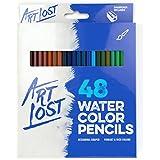 Watercolor Pencils 48-Colors - Aquarelle - Water-Soluble - Set of 48