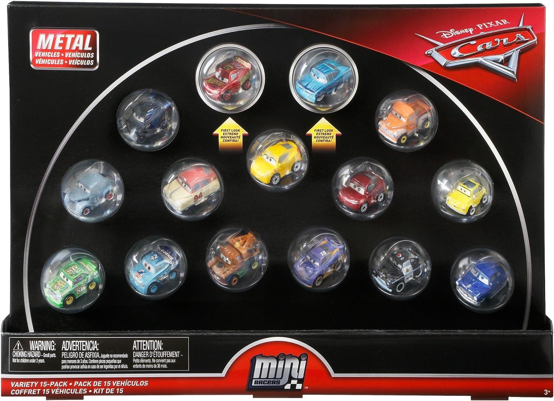 Disney Cars 3 Mini Racers Metallic RUST-EZE Racing McQueen Intro Ramone 15 Pack