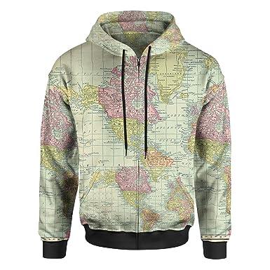 Antique world map 1913 men zip up hoodie at amazon mens clothing store antique world map 1913 men zip up hoodie xs gumiabroncs Images