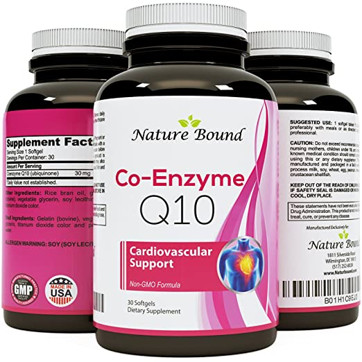 Natural Coq10 Ubiquinone Soft Gels – Super Antioxidant Supplements for Women and Men – Cell...