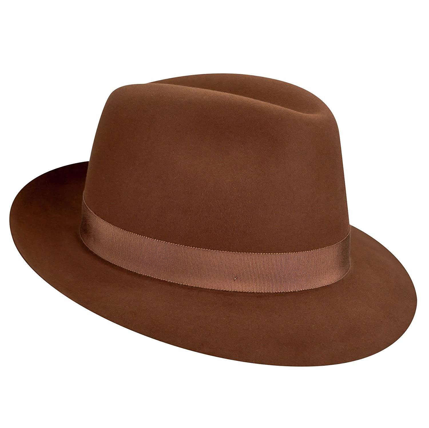 Bailey of Hollywood Men Draper Iii Fedora Cognac 7 5//8