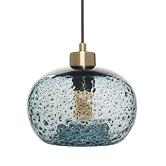Casamotion Mini Pendant Light Handblown Rustic Seeded Glass Drop ceiling lights Hanging Light with black  sc 1 st  Amazon.com & Casamotion Mini Pendant Light Handblown Rustic Seeded Glass Drop ... azcodes.com