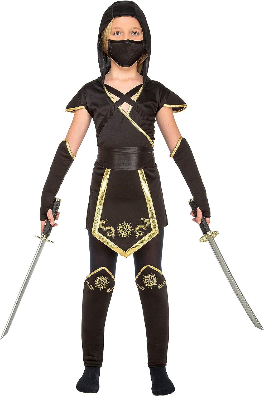 colore: nero My Other Me–costume da ninja per bambina W2E Viving