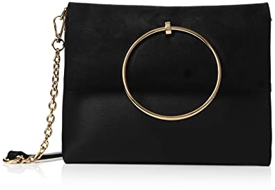 80e3cf4f1f New Look Womens Matilda Metal Handle Shoulder Bag Black (Black)