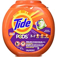 Deals on 81Ct Tide Pods 3 in 1 Laundry Detergent Pacs Spring Meadow