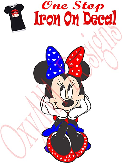Blue Dress Embroidered Iron On Patch MINNIE MOUSE