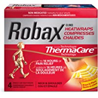 Robax Neck & Shoulder HeatWraps (4 count), Non-medicated Pain Relief for Neck and Shoulder