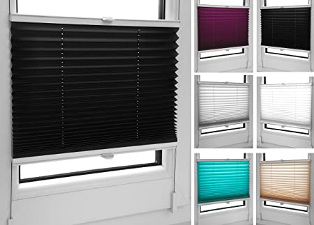 Pleated Blinds 18 Width Sizes 6 Colours Easy Fit Install Plisse Conservatory Blinds Black & Pleated Blinds 18 Width Sizes 6 Colours Easy Fit Install Plisse ...