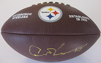 c5c9c66f3 Art Rooney Pittsburgh Steelers signed autographed Logo Football, COA with  the proof photo will be