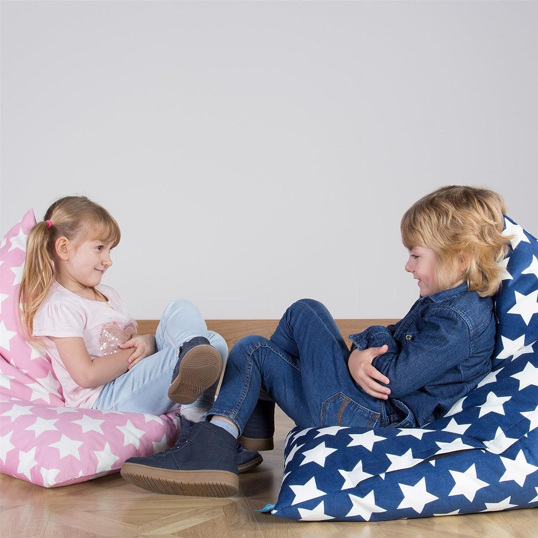 Lounge Pug Kinder Sitzsack Gaming Kindersessel Druck Blau Star