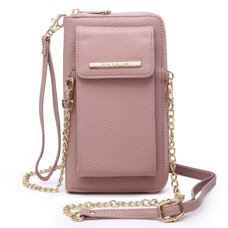 Cellphone Wallet Purse Phone Pouch Wristlet Clutch Crossbody Shoulder Bag - 12 Slots by Dasein
