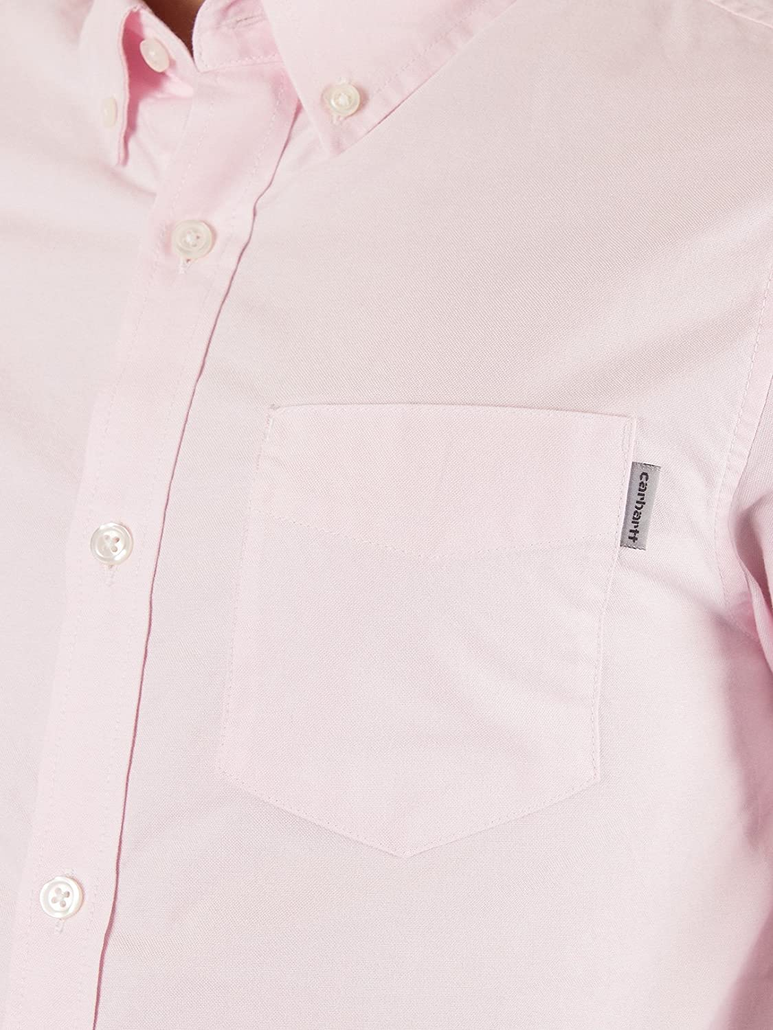 Carhartt WIP Men's Slim Fit Button Down Pocket Shirt, Pink