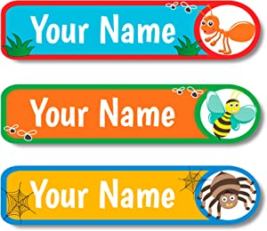 Lovable Labels Personalized Custom Sticker Labels Waterproof Dishwasher Safe Peel and Stick Labels are Great for School Supplies Daycare Camp Label Clothing Bottles. (Don't Bug Me!)
