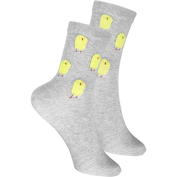 cosey- Calcetines de lana para hombres y mujeres - pollos - gris (33-42) - 2 pares: Amazon.es: Ropa y accesorios