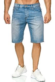 ee9c0c75afbe Herren Bermuda Shorts Slim Stretch Kurze Jeans Hose H2272  Amazon.de ...