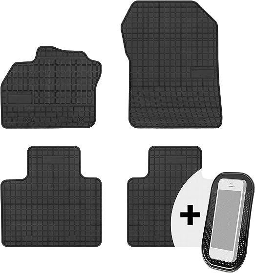 Moto Moltico Gummimatten Auto Fußmatten Gummi Automatten Passgenau 4 Teilig Set Passend Für Renault Zoe 2012 2019 Auto