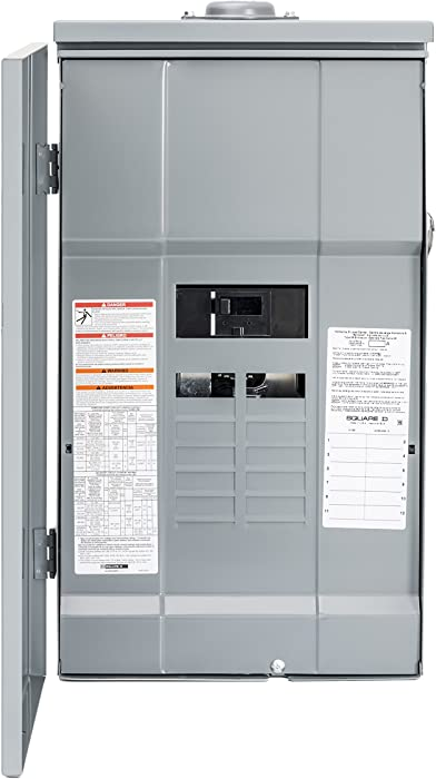 Square D by Schneider Electric HOM12M200PRB Homeline 200-Amp 12-Space 12-Circuit Outdoor Main Breaker Load Center with Cover, Plug-on Neutral Ready