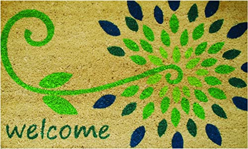 Robert Allen Home Garden MAT01740 Starflower Coir Doormat