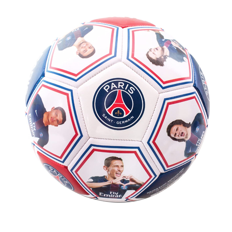 PARIS SAINT GERMAIN Spieler Photo und Unterschriften Fußball (Größe 5) Mehrfarbig Hy-Pro International Ltd PS04672