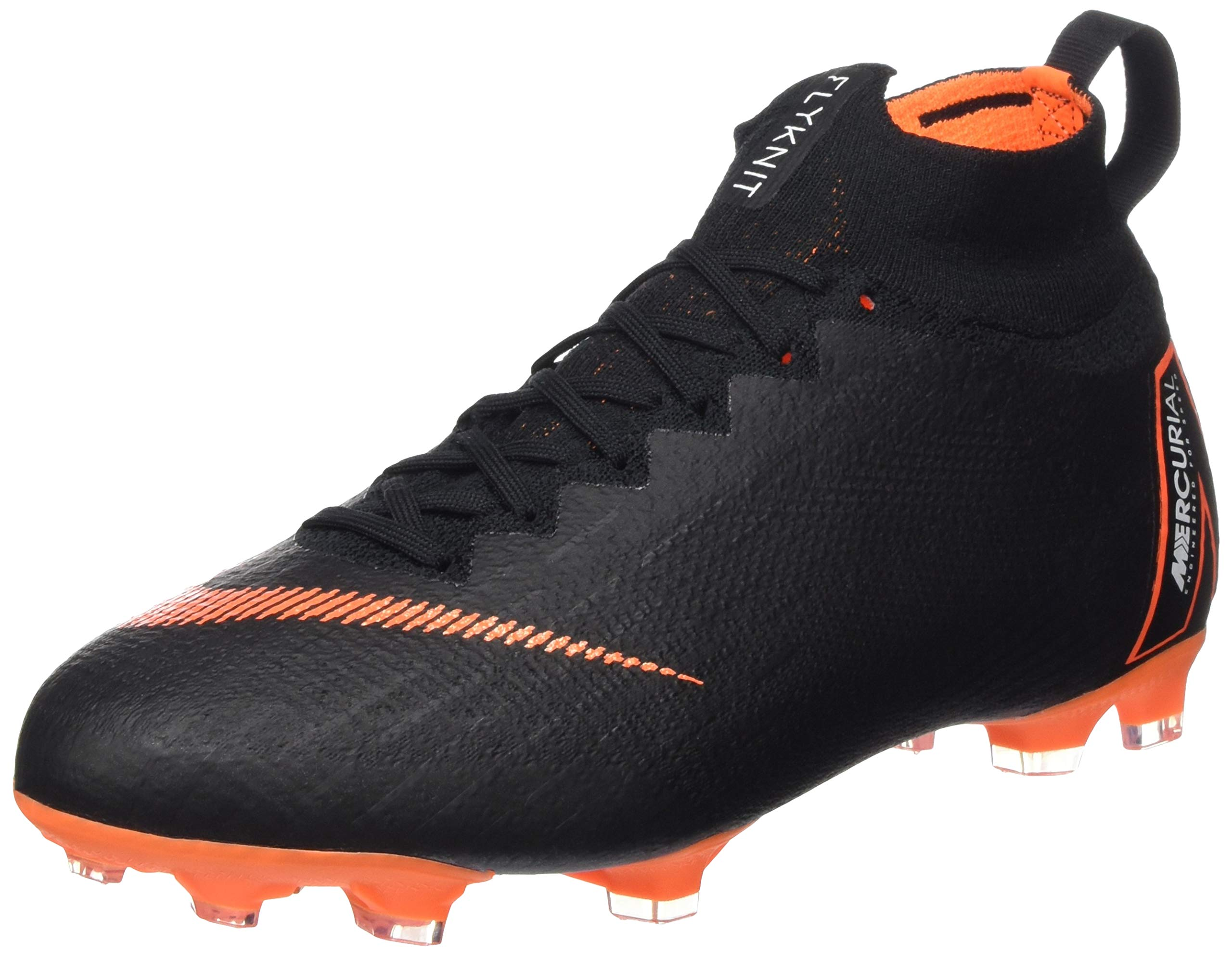 Nike Jr. Mercurial Superfly 360 Elite Big Kids' Firm-Ground Soccer Cleat (6Y, Black/Total Orange/White)