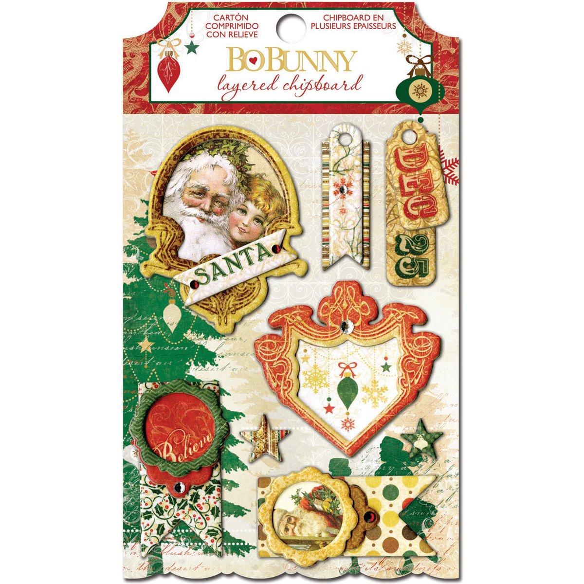 Bo Bunny Silver & Gold Self-Adhesive Layered Chipboard- BoBunny Press BB15109015