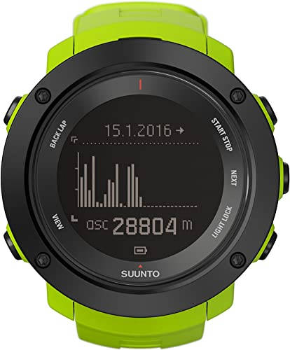 SUUNTO Unisex Ambit3 Vertical Multisport GPS Watch with Heart Rate Monitor Altimeter Compass Temperature Sunrise-Sunset and Storm Alarm for Planning and Tracking Your Elevation Gain with Ease
