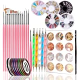 Nail Art Pens Nail Kit 47 Pcs, Dotting Foil 15 Pcs Nail Designer Kit Set, Designer Nail Foil, Paillette Decoration Manicure 5