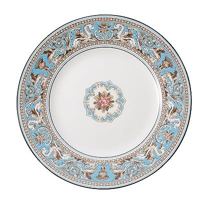 amazon com wedgwood florentine dinner plate 10 75 turquoise