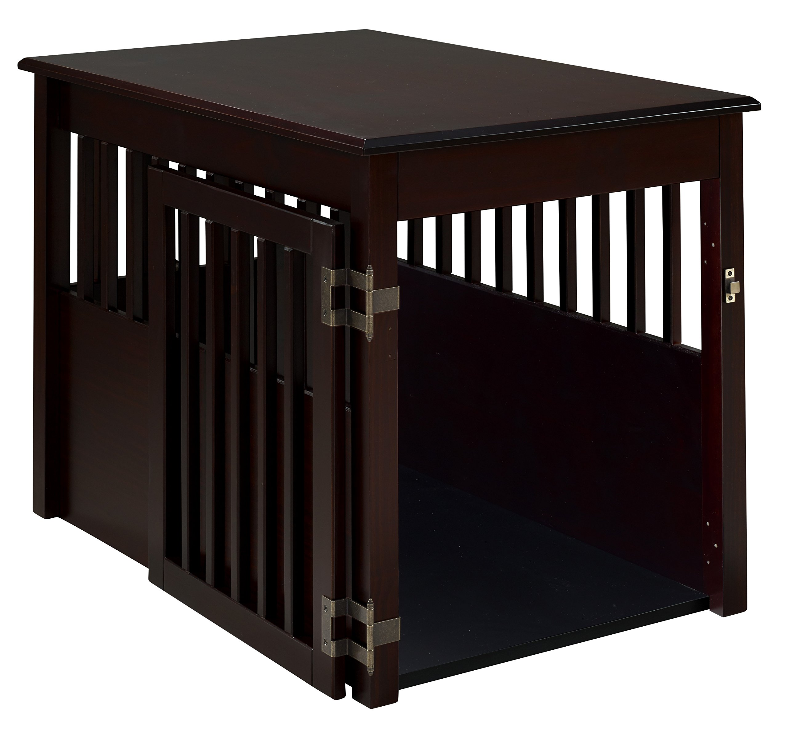 BarkWood Large Pet Crate End Table - Cappuccino Finish