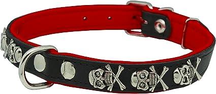 """1/""""Adjustable Collar Punk Pink Sugar Skull Skulls All Over Ribbon Dog Collar"""