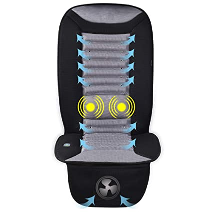 Snailax Cooling Car Seat Cushion With Massage Car Seat Cooling Pad Air Conditioned Seat Cover With Car Fan For Car Truck Home And Office Use Sl 252