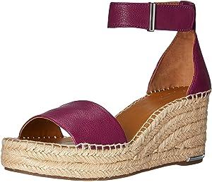 c142b3931dff Amazon.com  Dolce Vita Women s Lesly Wedge Sandal onyx suede 6 M US ...